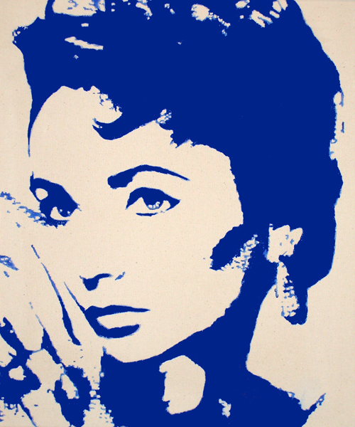 acrylbilder pop art portrait elizabeth taylor. Black Bedroom Furniture Sets. Home Design Ideas